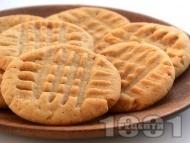 Рецепта Лесни селски великденски курабийки (сладки) с масло или свинска мас и пудра захар